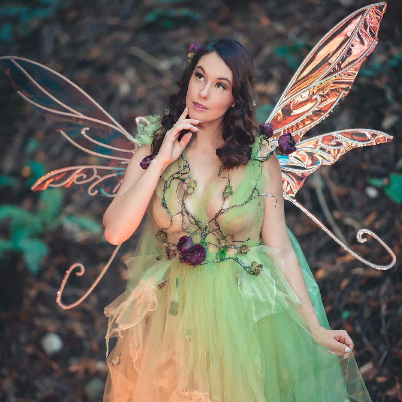 Meg Turney As A Green Fairy