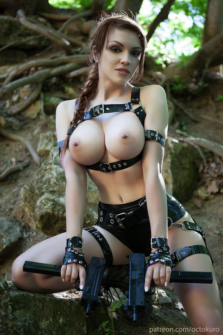 Octokuro As Lara Croft NSFW