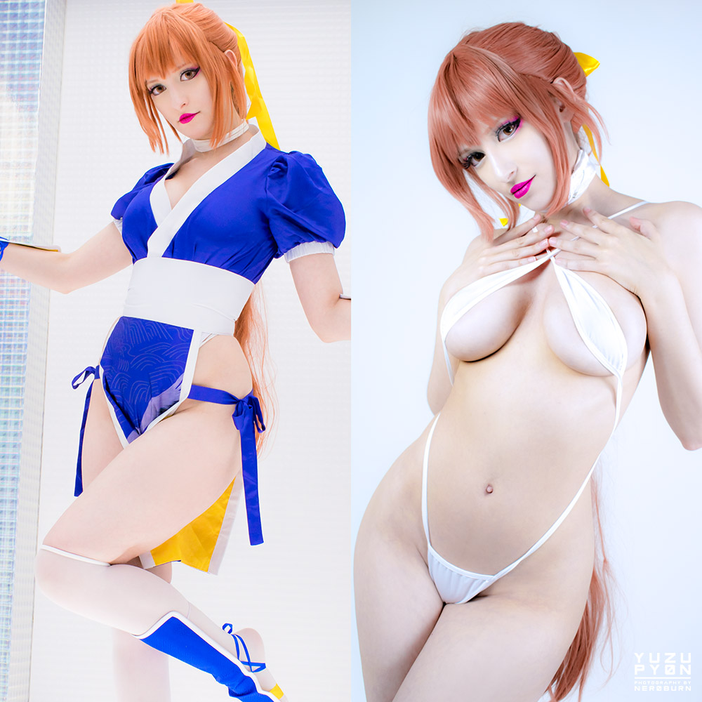 DOA Fighting VS Xtreme Version, Which Game Is Your Favorite? ♥ – Kasumi Cosplay ON/OFF By YuzuPyon
