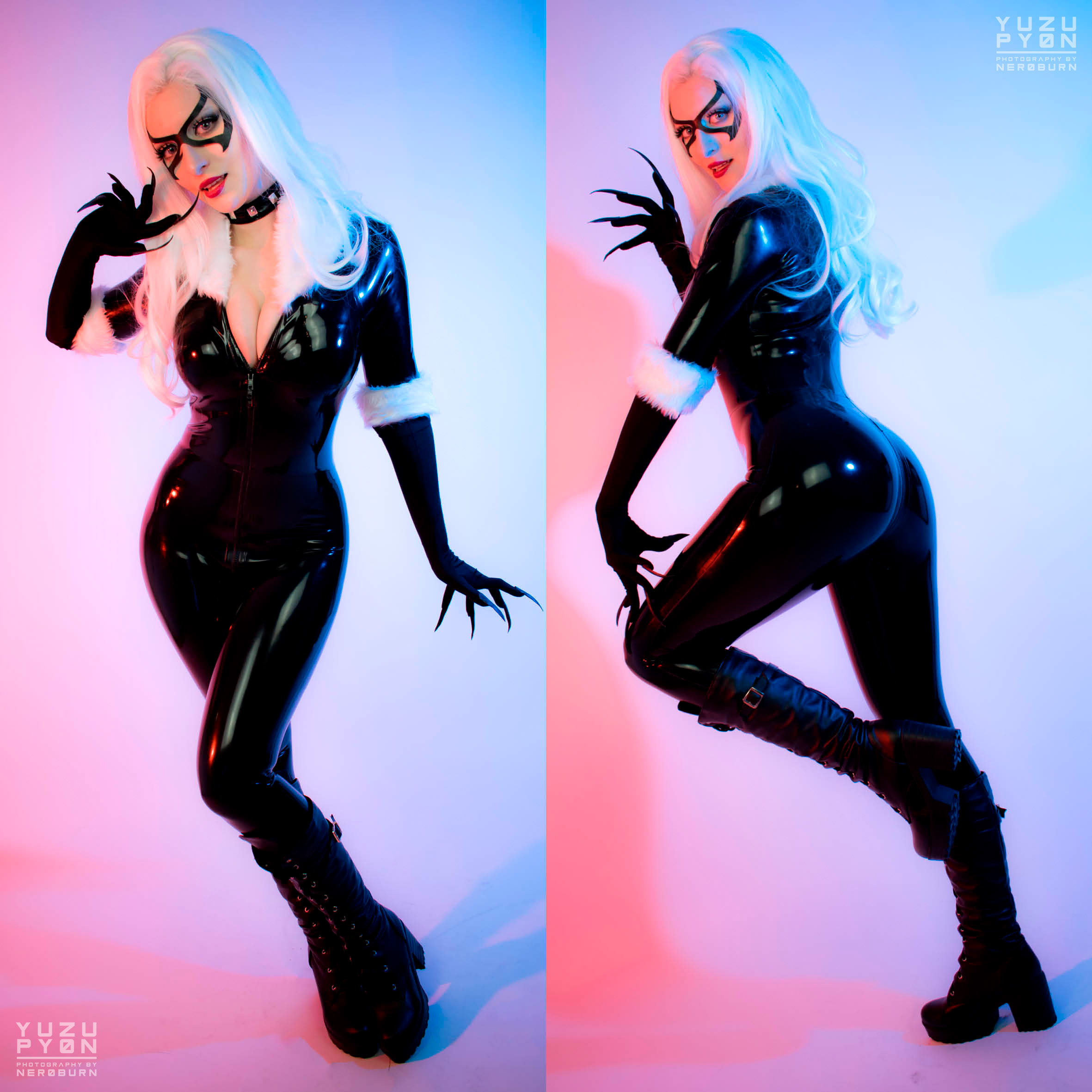 Black Cat Latex Cosplay By YuzuPyon