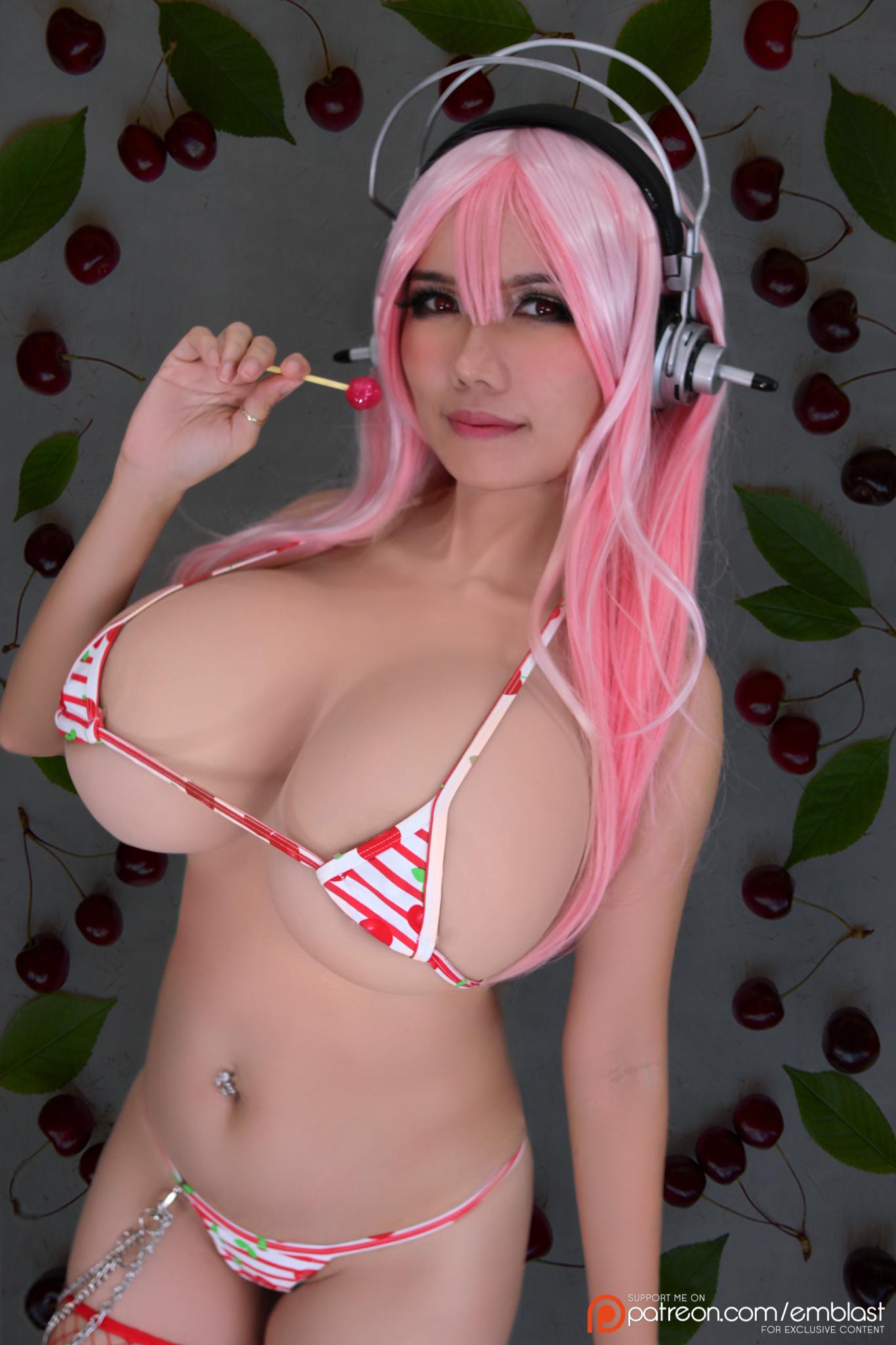 Sweet Cherry Lollipop Super Sonico By Emblast