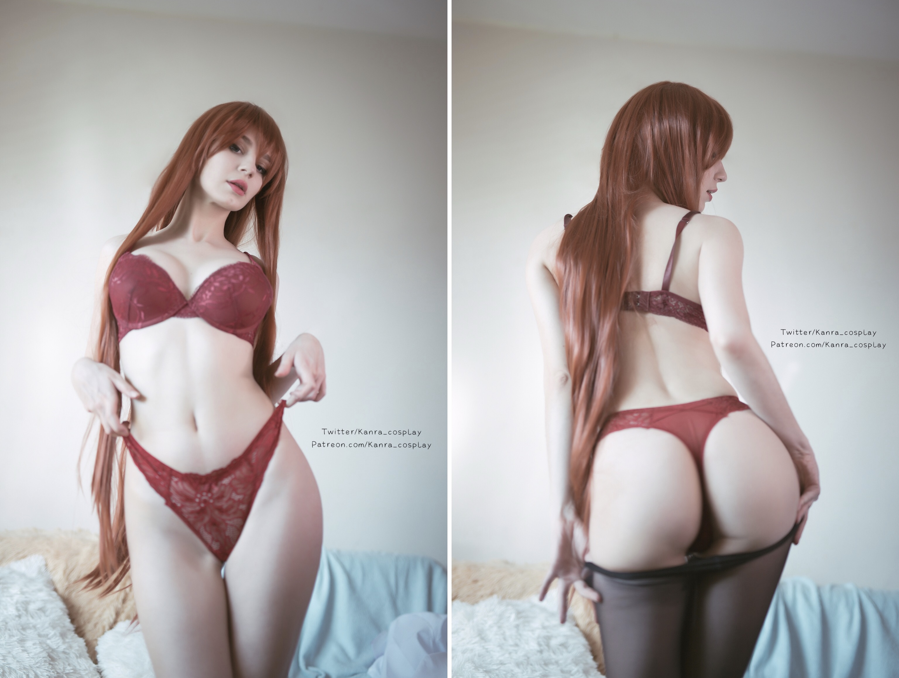 Front Or Back?! Kurisu By Kanra_cosplay