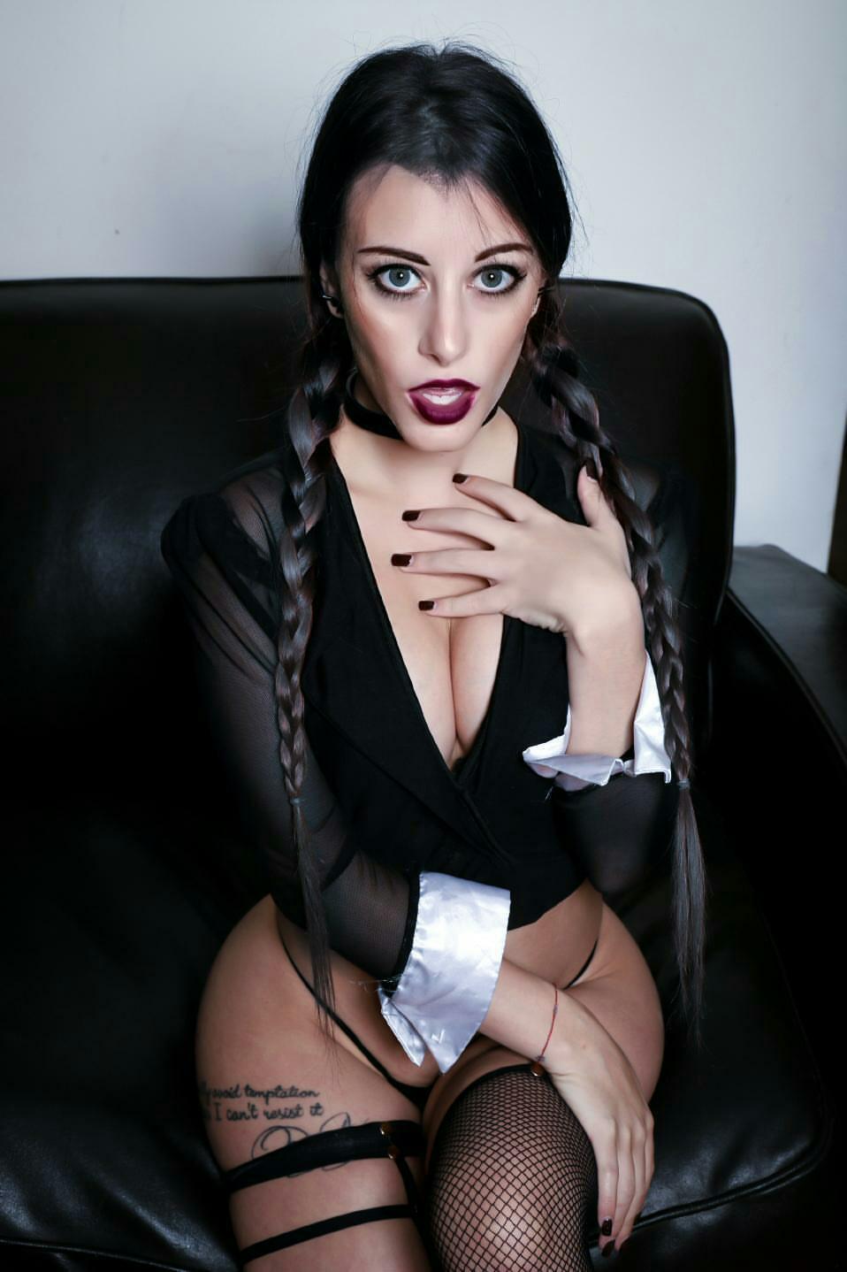 Boudoir Wednesday Addams By Dani Sciacca