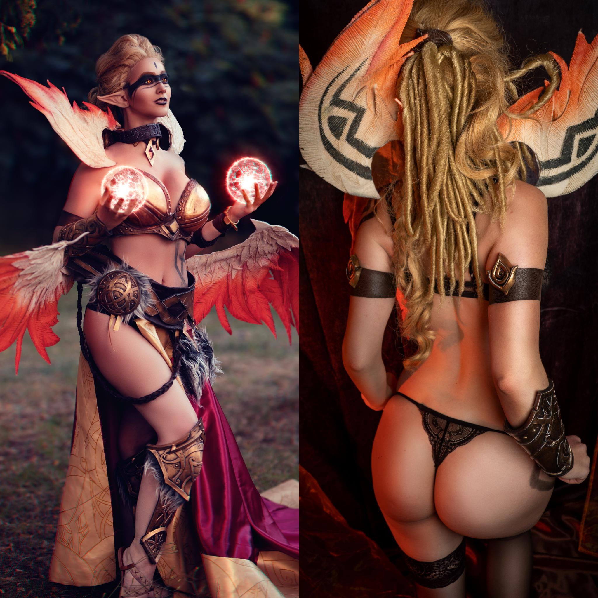 ON Or OFF? *LienSue* As Exiled Morgana From League Of Legends / Left Photo Made By Bcwphoto