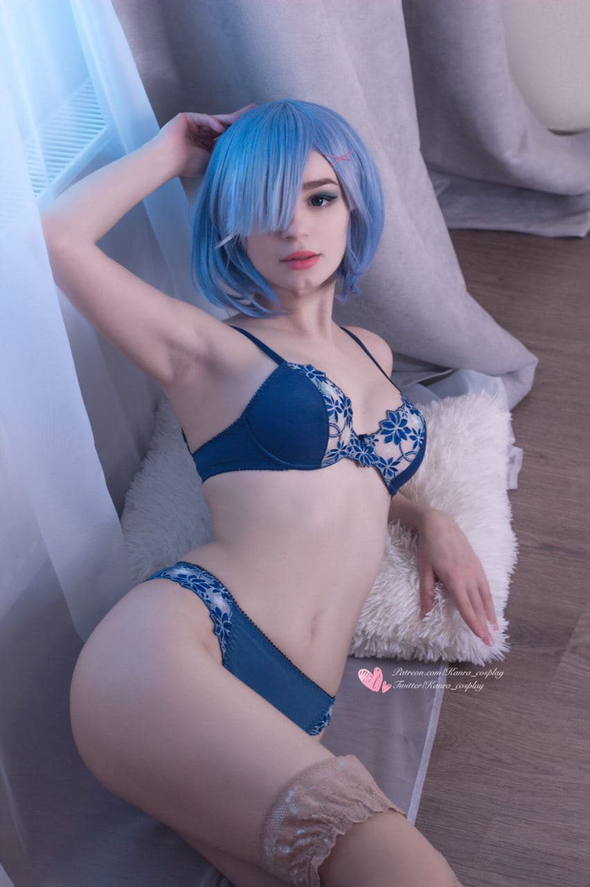 Flower Lingerie Suits So Well To Rem! By Kanra_cosplay