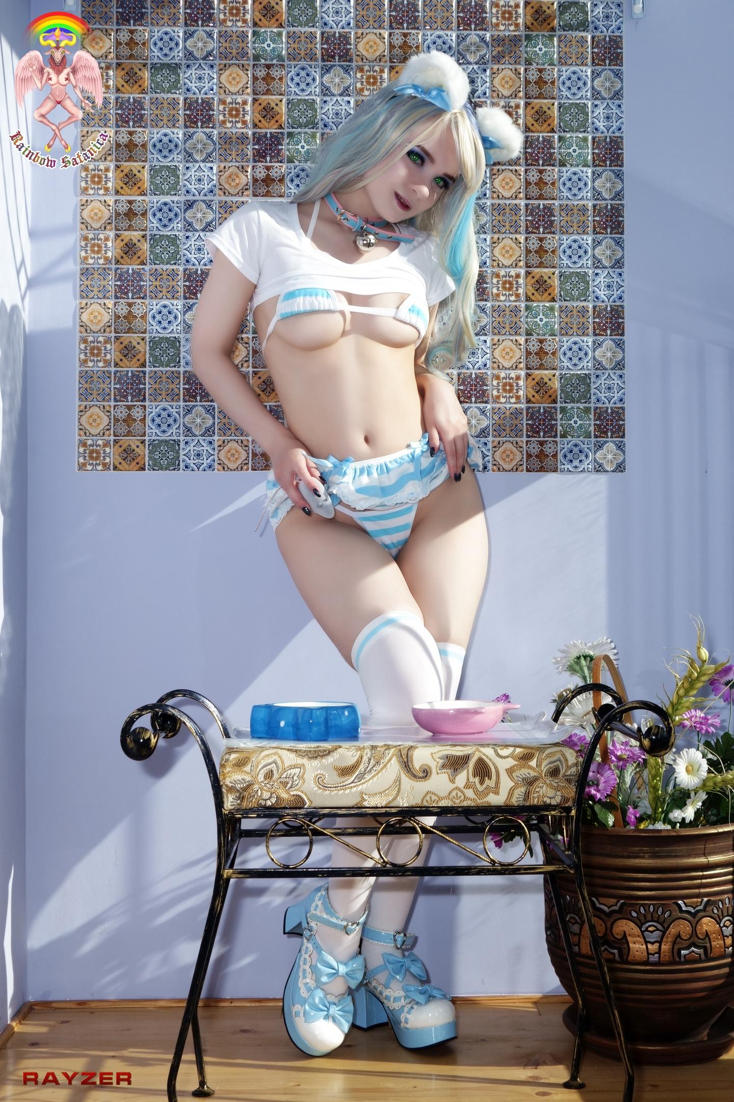 Blue Kitty By Rainbow Satanica