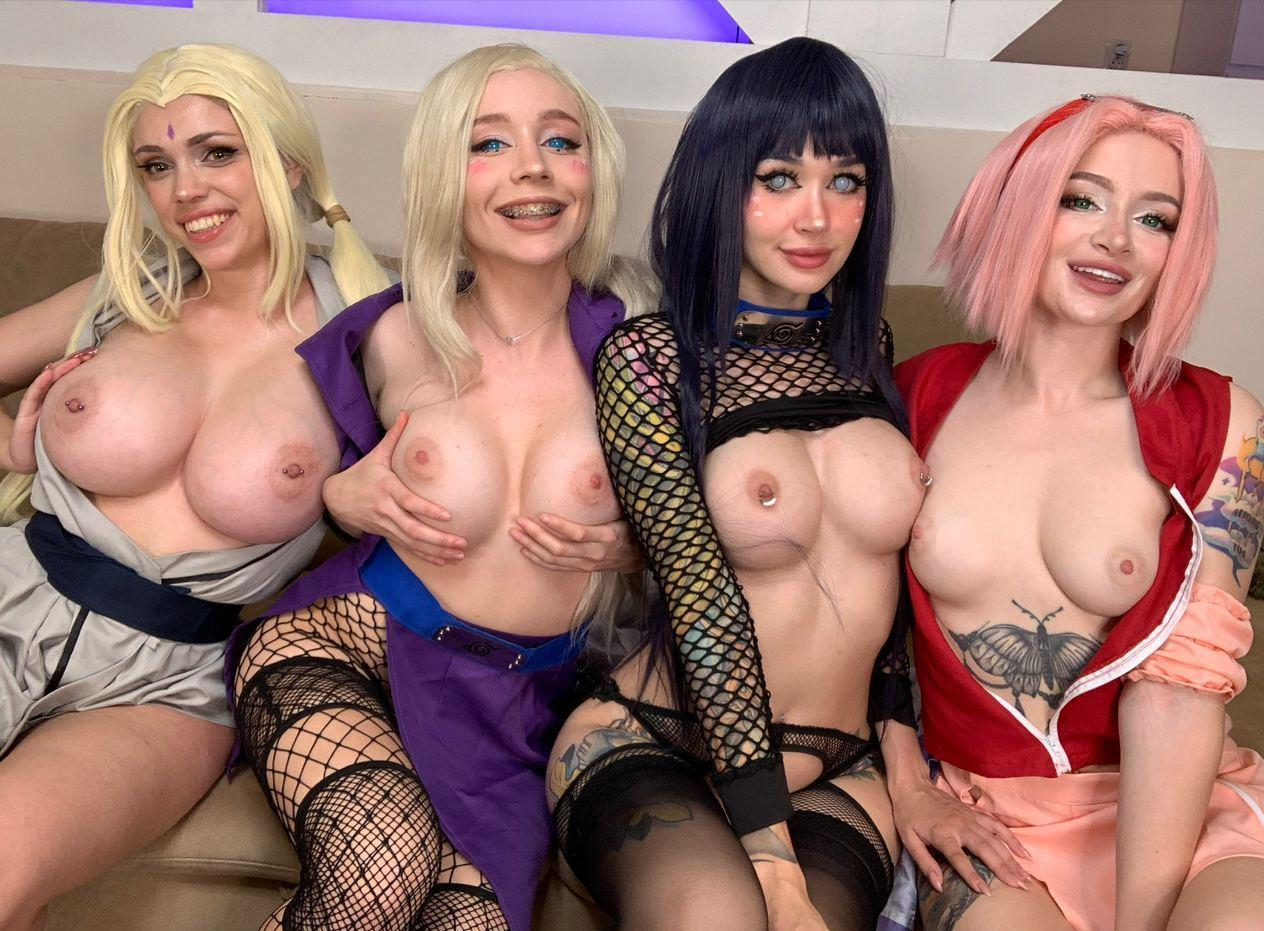 Hinata, Tsunade, Sakura And Ino From Naruto By Purple Bitch, Octokuro, Leah Meow And Hhead Shhot