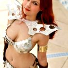 Cosplay of curvy Red Sonja