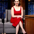 Emilia Clarke In Red And Hot As Hell