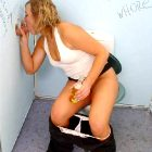 Glamorous girls giving blowjobs set by 'GloryHole Daily'