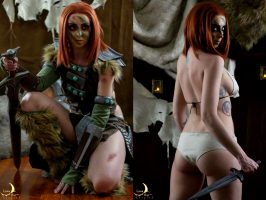 Aela The Huntress On/Off By Lunaraecosplay
