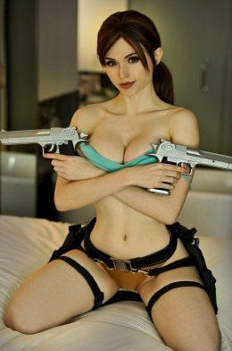 Amouranth As Lara Croft