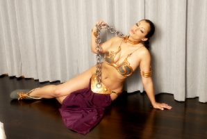 Aria Giovanni As Slave Leia