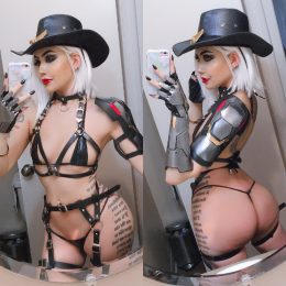 Ashe Lewd Cosplay From Overwatch – By Felicia Vox
