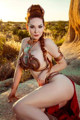Ashlynne Day As Slave Leia