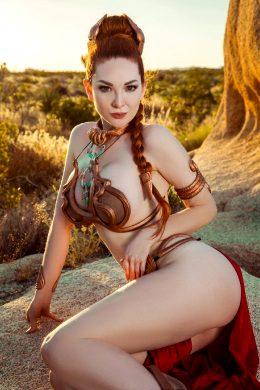 Ashlynne Day As Slave Leia