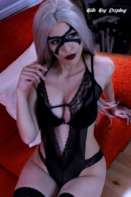 Black Cat Erocosplay By Kate Key