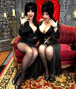 Cassandra Peterson And Alina Masquerade As Elvira
