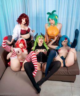 Coke-chan, Monster-chan, Pepsi-chan, DrPepper-chan And IceTea-chan By Mikomi Hokina, Gumiho, Kerocchi, Megumi Koneko And WaifuFox
