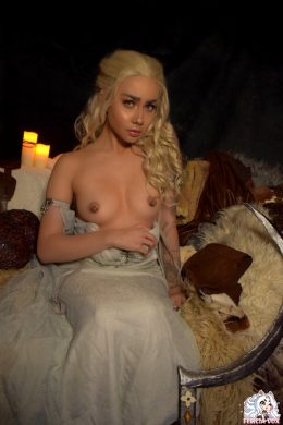 Daenerys Targaryen From Game Of Thrones Topless Cosplay By Felicia Vox