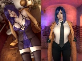 Detective Ito From Tokyo Dark Cosplay & Lingerie Version – By Pia