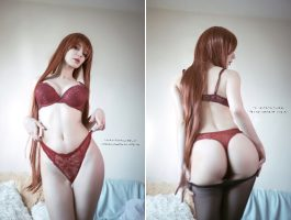 Front Or Back?! Kurisu By Kanra_cosplay
