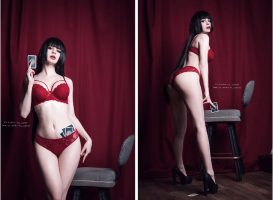 Front Or Back?! Yumeko Jabami By Kanra_cosplay