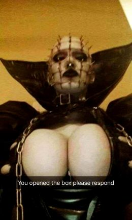 Genderbend Pinhead From Hellraiser Series By Some Unknown Cosplayer