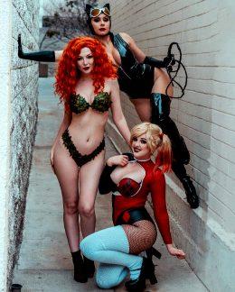 Gotham City Sirens! Catwoman: Lenox Knight, Poison Ivy: Ashlynne Dae, Harley Quinn: Reagan Kathryn