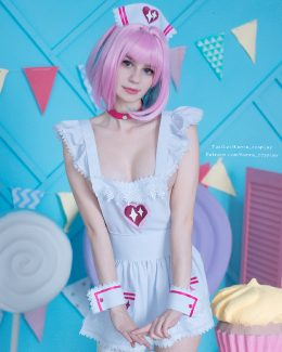 Is It Okay If I Will Stay In An Apron Or You Prefer Me To Take It Off Too? Yumemi By Kanra_cosplay