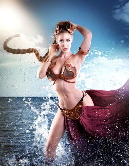 Kristen Hughey As Slave Leia