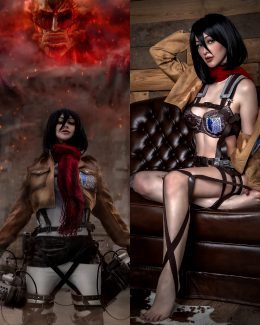 LienSue As Mikasa From Attack On Titan