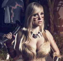 Meagan Cosplay As Barbarian From Diablo