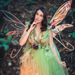 Meg Turney As A Green Fairy