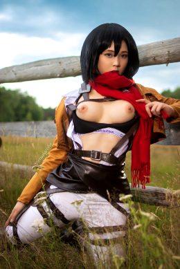 Mikasa From Attack On Titan By Virtual Geisha