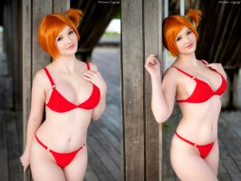 Misty From Pokemon In A Tight Red Bikini By Mikomin