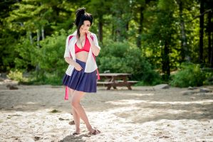 Momo Yaoyorozu At The Beach By Gaby_cosplay