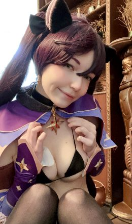 Mona From Genshin Impact Cosplay By Murrning_Glow