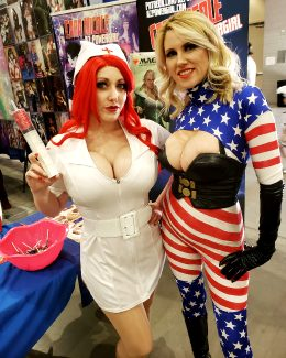 Nurse Jessica Rabbit And Patriotica By Alina Masquerade And AZ Powergirl Cara Nicole
