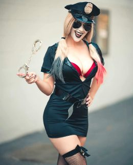 Police Disguise Harley Quinn By Meg Turney