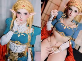 Princess Zelda From BOTW By Azukichwan