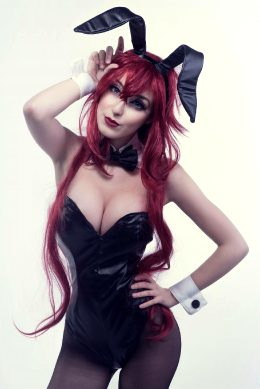 Rias Gremory As Bunny By Anni The Duck
