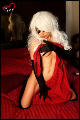 Sensual Black Cat By Liz Katz