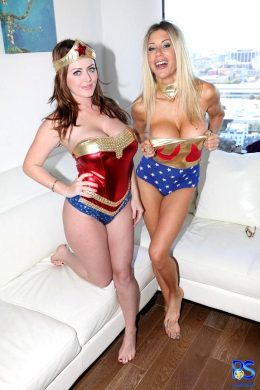 Sophie Dee And Puma Swede As Wonder Woman