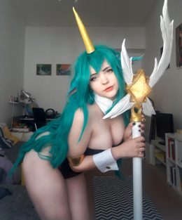 Star Guardian Soraka Bunny /girl Version- From League Of Legends- By ImDaisyDeer