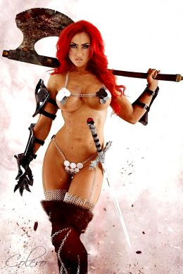 Super Hot Red Sonja Cosplay By Miranda Lee Morgado