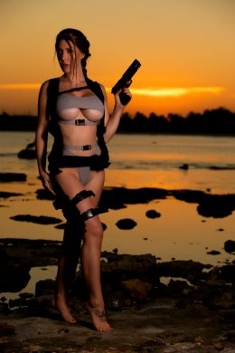 Swimsuit Lara Croft By Kristen Hughey