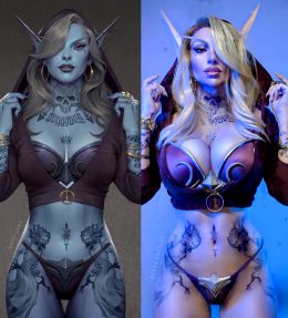 Tattooed Sylvanas Cosplay