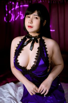 Tifa Purple Dress Cosplay By UyUy