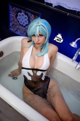 Traveller…? Eula Bath Ero Cosplay By Kate Key From Genshin Impact